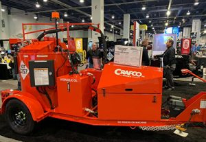 Crafco melter on tradeshow floor