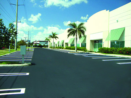Action pave classic in corporate parking lot