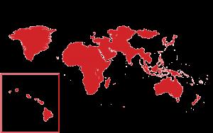 Asia, Australia, Nueva Zelanda, África, Medio Oriente y Groenlandia