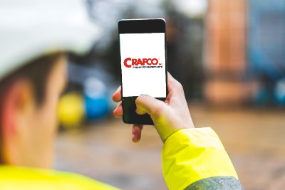 Crafco logo on mobile phone