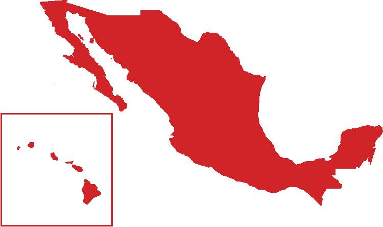 Región de ventas de Crafco - México y Hawái