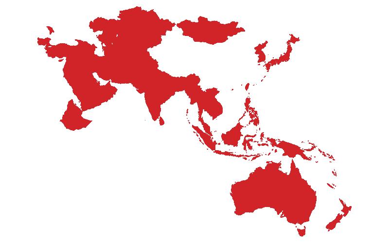 Asia, Australia, Nueva Zelanda, Medio Oriente